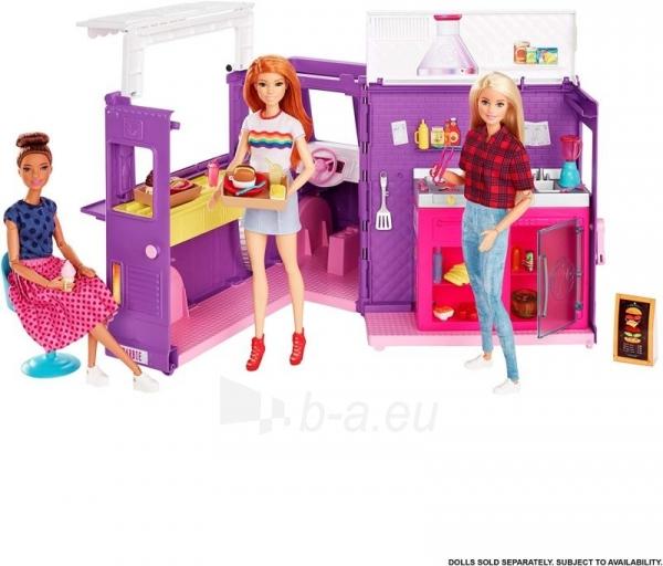Rinkinys GMW07 Barbie®Food Truck with Multiple Play Areas & 30+ Realistic Play Pieces Paveikslėlis 4 iš 6 310820230591
