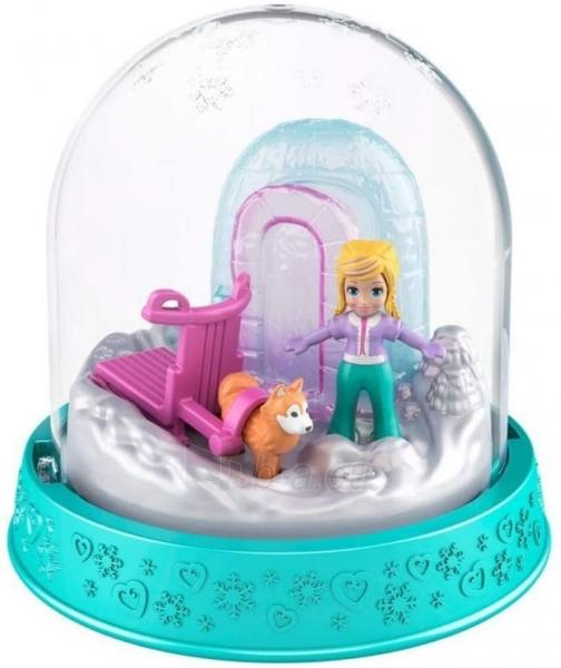 Rinkinys GNG70 / GNG66 Polly-Pocket Mattel Mini Snow Globe Winter Christmas Paveikslėlis 2 iš 2 310820230707