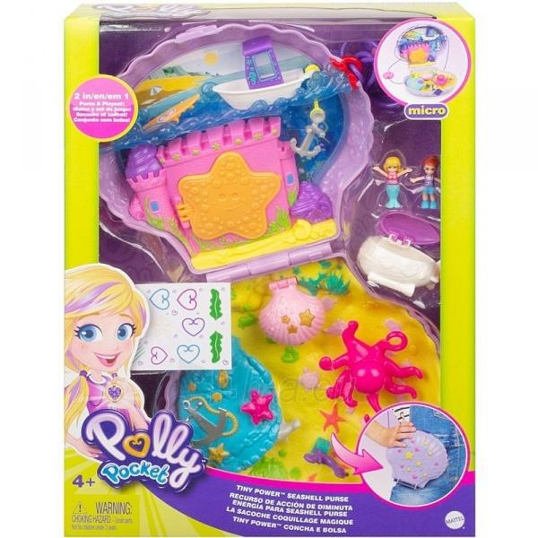 Rinkinys GNH11 Polly Pocket™ Tiny Power™ Seashell Purse Paveikslėlis 3 iš 6 310820230593