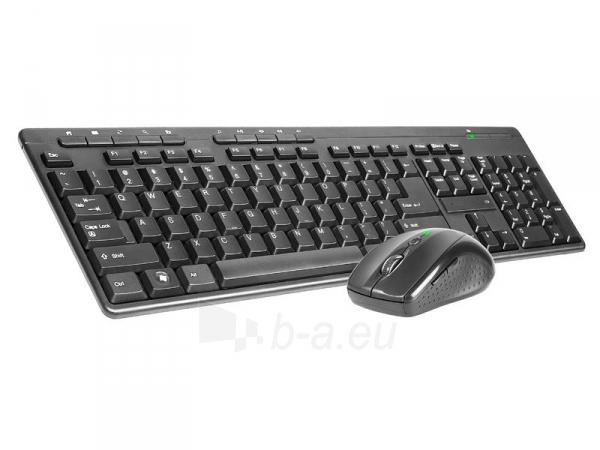 Rinkinys Klaviatūra+ pelė TRACER BlackJack USB, US Paveikslėlis 2 iš 3 250255701084