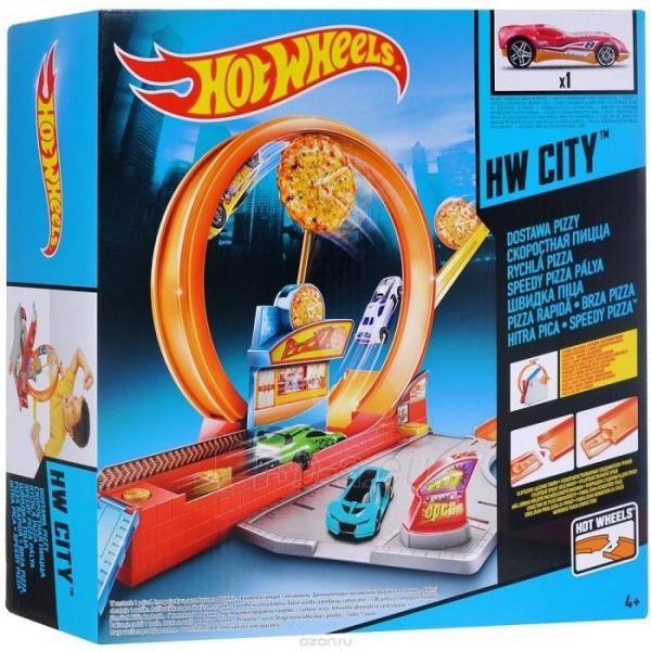 Rinkinys Moto BGJ05 / X9295 Mattel Hot wheels SPEEDY PIZZA Paveikslėlis 1 iš 2 310820136713