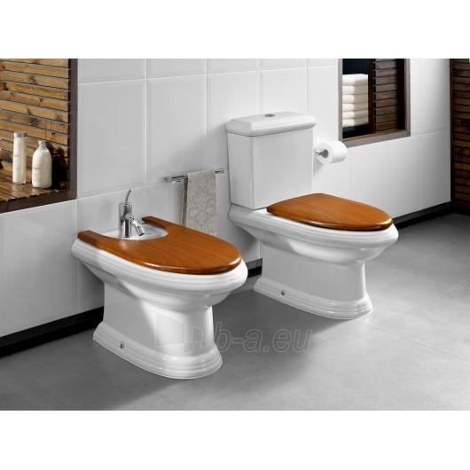 Roca America unitazas with bakeliu ir medienos imitacijos Slowclose cover Paveikslėlis 1 iš 3 270713000456