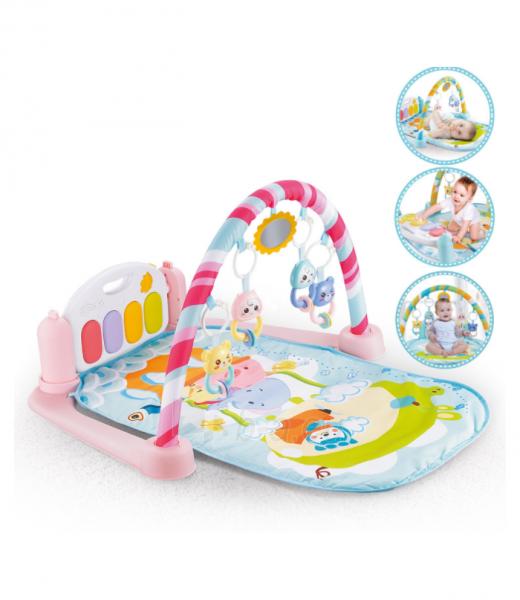 Rožinis kūdikių muzikinis gimnastikos kilimėlis MR118 Paveikslėlis 1 iš 4 310820228981