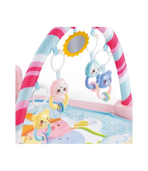 Rožinis kūdikių muzikinis gimnastikos kilimėlis MR118 Paveikslėlis 2 iš 4 310820228981