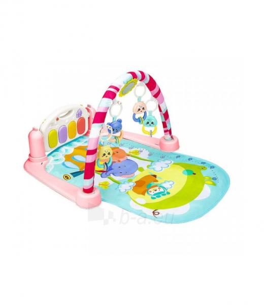 Rožinis kūdikių muzikinis gimnastikos kilimėlis MR118 Paveikslėlis 3 iš 4 310820228981