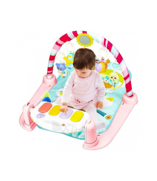 Rožinis kūdikių muzikinis gimnastikos kilimėlis MR118 Paveikslėlis 4 iš 4 310820228981