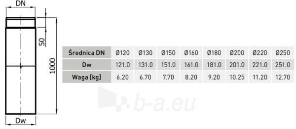 RP vamzdis 130/1000-CZ2 (ML) pilkas Paveikslėlis 2 iš 2 310820161645