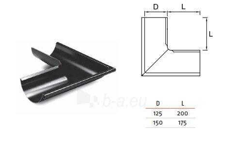 RUUKKI Latako kampas (išorinis) 125 mm RR32 (ruda) Paveikslėlis 1 iš 2 237520000408