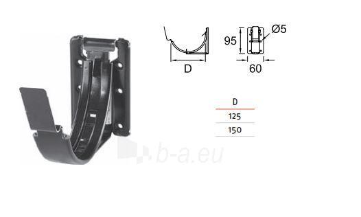 Latako laikiklis reguliuojamas Ruukki 125 mm Paveikslėlis 1 iš 2 237520000410