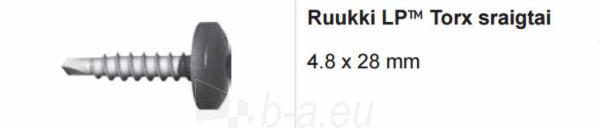 Ruukki LP™ Torx sraigtai 4.8 x 28 mm spalvoti (100 vnt./pak.) Paveikslėlis 1 iš 1 310820026918