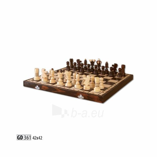 Šachmatai mediniai 42x42 Paveikslėlis 1 iš 1 251010000208