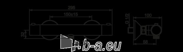 SAFIRA termostatinis dušo maišytuvas Paveikslėlis 2 iš 2 310820163844