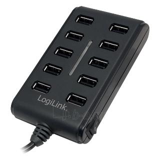 Šakotuvas LogiLink USB2.0, 10 portų, ON/OFF mygtukas Paveikslėlis 1 iš 1 250257501506