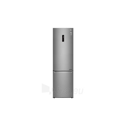 Šaldytuvas LG Refrigerator GBB72SADFN Free standing, Combi, Height 203 cm, A+++, No Frost system, Fridge net capacity 277 L, Freezer net capacity 107 L, Display, 36 dB, Stainless steel Paveikslėlis 1 iš 5 310820173079