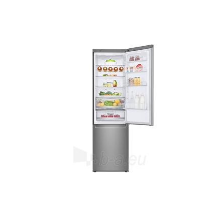 Šaldytuvas LG Refrigerator GBB72SADFN Free standing, Combi, Height 203 cm, A+++, No Frost system, Fridge net capacity 277 L, Freezer net capacity 107 L, Display, 36 dB, Stainless steel Paveikslėlis 2 iš 5 310820173079