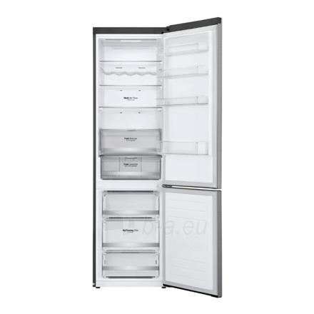 Šaldytuvas LG Refrigerator GBB72SADFN Free standing, Combi, Height 203 cm, A+++, No Frost system, Fridge net capacity 277 L, Freezer net capacity 107 L, Display, 36 dB, Stainless steel Paveikslėlis 3 iš 5 310820173079