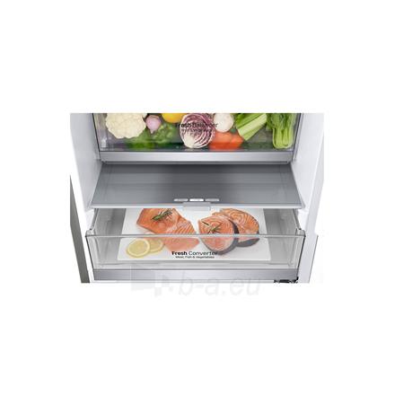 Šaldytuvas LG Refrigerator GBB72SADFN Free standing, Combi, Height 203 cm, A+++, No Frost system, Fridge net capacity 277 L, Freezer net capacity 107 L, Display, 36 dB, Stainless steel Paveikslėlis 4 iš 5 310820173079