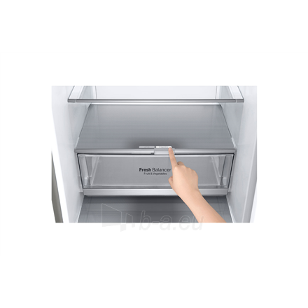 Šaldytuvas LG Refrigerator GBB72SADFN Free standing, Combi, Height 203 cm, A+++, No Frost system, Fridge net capacity 277 L, Freezer net capacity 107 L, Display, 36 dB, Stainless steel Paveikslėlis 5 iš 5 310820173079