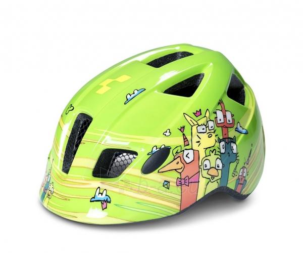 Šalmas Cube PEBBLE green friends Paveikslėlis 1 iš 2 310820159436