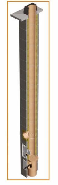 Fireclay 2- channel flue TONA din 10m/Ø160mm+160mm Paveikslėlis 4 iš 5 301207000113