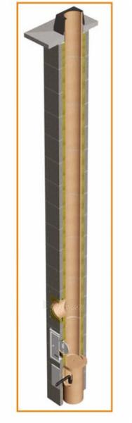 Fireclay 2- channel flue TONA din 10m/Ø200mm+140mm Paveikslėlis 4 iš 5 301207000116
