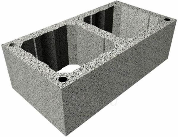 Šamota 2- kanālu dūmvads TONA din 4m/Ø200mm+180mm Paveikslėlis 2 iš 5 301207000076
