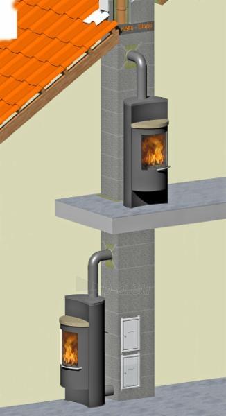 Fireclay flue TONA din 5m/Ø180mm with ventilation channel Paveikslėlis 1 iš 5 301207000043