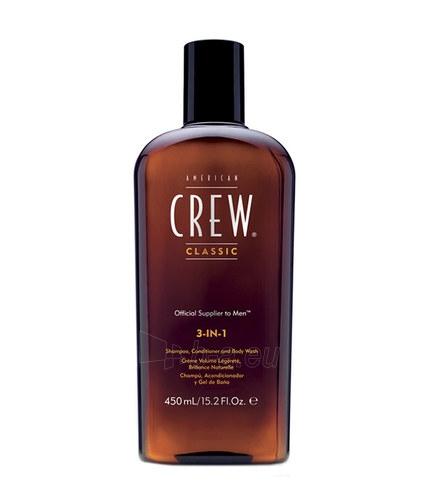 Šampūnas plaukams American Crew 3-IN-1 Shampoo, Conditioner & Body Wash Cosmetic 250ml Paveikslėlis 1 iš 1 250830101370