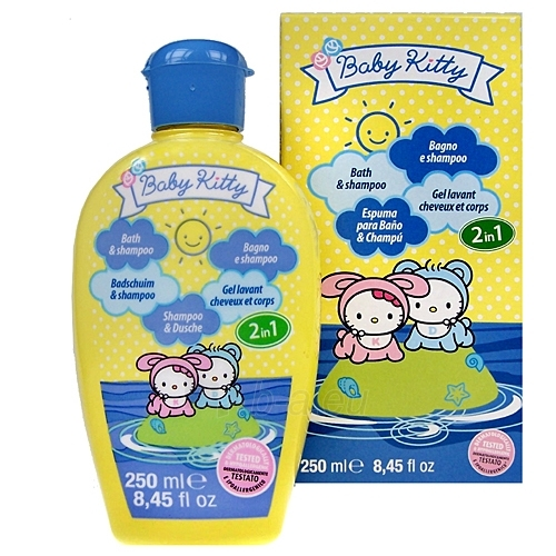 Baby Kitty Bath & Shampoo 2in1 Cosmetic 250ml Paveikslėlis 1 iš 1 30024900079