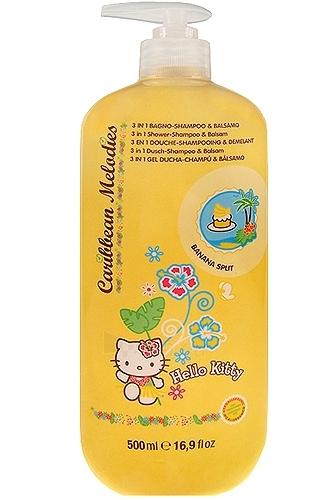 Hello Kitty Caribbean Melodies Shampoo 3in1 Banana split Cosmetic 500ml Paveikslėlis 1 iš 1 250830100011