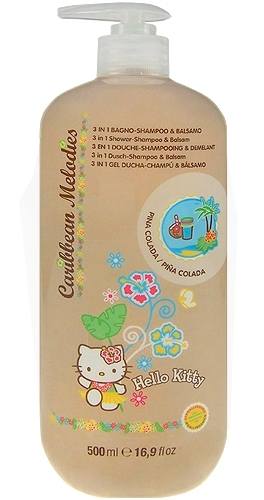 Hello Kitty Caribbean Melodies Shampoo 3in1 Pina Colada Cosmetic 500ml Paveikslėlis 1 iš 1 250830100010