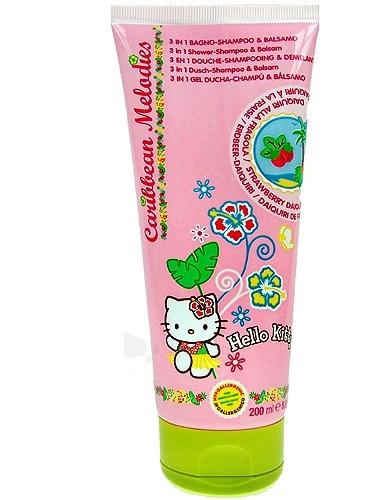 Hello Kitty Caribbean Melodies Shampoo 3in1 Strawberry Cosmetic 200ml Paveikslėlis 1 iš 1 250830100007