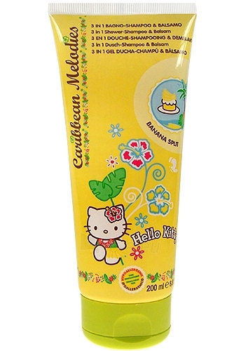 Hello Kitty Caribbean Melodies Shampoo 3v1 Banana split Cosmetic 200ml Paveikslėlis 1 iš 1 250830100006