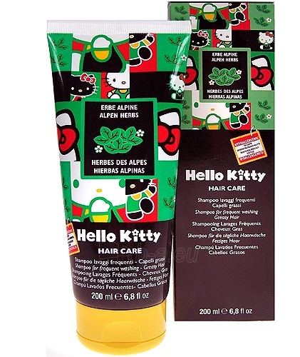 Hello Kitty Hair Care Shampoo Greay hair Cosmetic 200ml Paveikslėlis 1 iš 1 250830100013
