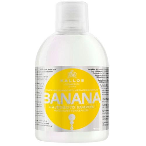 Šampūnas plaukams Kallos Banana Fortifying Shampoo Cosmetic 1000ml Paveikslėlis 1 iš 1 250830101112
