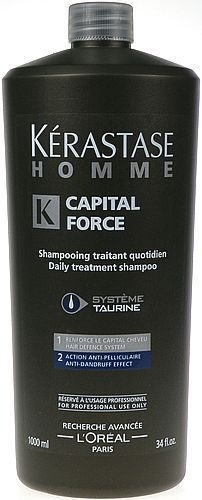 Kerastase Homme Capital Force Shampoo AntiDandruff Effect Cosmetic 1000ml Paveikslėlis 1 iš 1 250830100060
