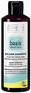 Šampūnas plaukams Lavera Balm Shampoo Basis Sensitiv Cosmetic 250ml Paveikslėlis 1 iš 1 250830100018