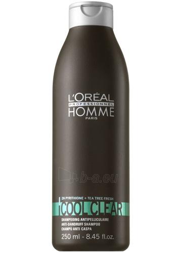 Šampūnas plaukams Loreal Professionnel Dandruff shampoo for men Cool Clear (Anti-Dandruff Shampoo) 250 ml Paveikslėlis 1 iš 2 310820090549