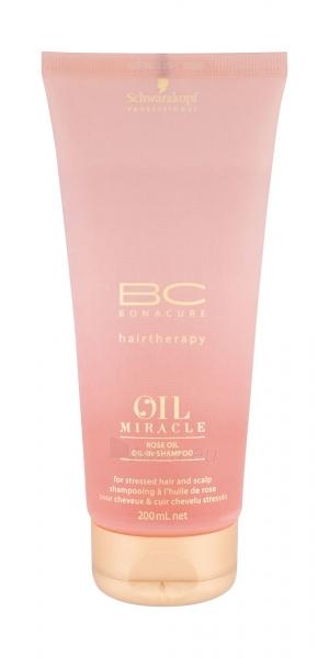 Šampūnas plaukams Schwarzkopf BC Bonacure Oil Miracle Rose Oil Shampoo Cosmetic 200ml Paveikslėlis 1 iš 1 250830101153