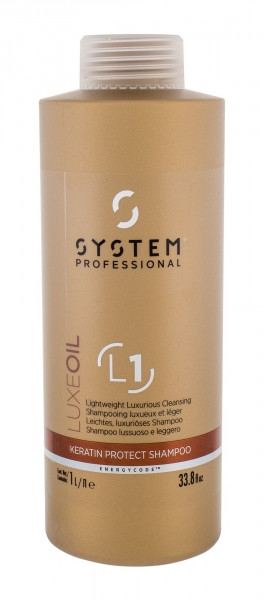 Šampūnas System Professional Luxe Oil Keratin Protect Shampoo 1000ml L1 Paveikslėlis 1 iš 1 310820154854