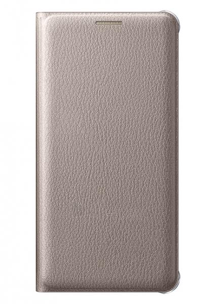 Samsung  Flip Wallet (PU) for Galaxy A5 (2016) A510 (Gold) Paveikslėlis 1 iš 3 250232003038