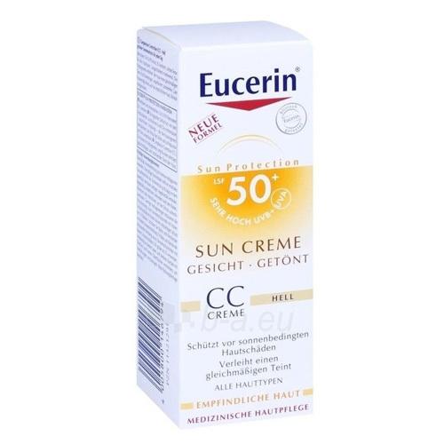 Saulės kremas Eucerin CC sunscreen for face SPF 50+ Light (Sun CC Creme) 50 ml Paveikslėlis 1 iš 1 310820093971