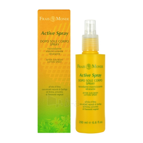 Sun Cream Frais Monde Active Spray After Sun Firms Cosmetic Body Lotion 200ml Paveikslėlis 1 iš 1 250860000584