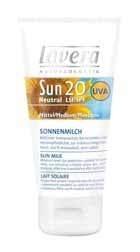 Sun cream Lavera Sun Lotion SPF20 Cosmetic 50ml  Paveikslėlis 1 iš 1 250860000254