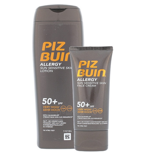 Saulės kremas Piz Buin Allergy Sun Sensitive Skin Lotion SPF50+ Kit Cosmetic 250ml Paveikslėlis 1 iš 1 310820043056
