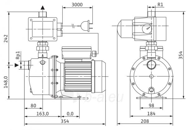 Savisiurbis siurblys FWJ-203-EM/3 Paveikslėlis 2 iš 2 310820254286