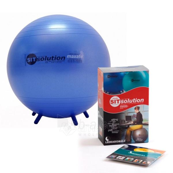 Sėdėjimo kamuolys Original PEZZI Sitsolution MAXAFE 65 cm Blue Paveikslėlis 6 iš 6 310820136667