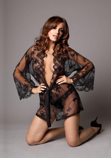 Seksualus kimono su kelnaitėmis - Juodas XXL/XXXL Paveikslėlis 1 iš 3 25140807000516