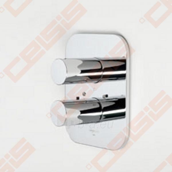 Sienoje montuojamo termostatinio vonios ir dušo maišytuvo išorinė dekoratyvinė dalis IL BAGNO ALESSI Dot by Oras Paveikslėlis 1 iš 2 30091700020