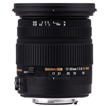 Sigma AF 17-50mm F2.8 EX DC OS HSM for Canon, 17 Elements in 13 Groups, Angle of View: 72.4-27.9 degrees, 7 Blades Paveikslėlis 1 iš 1 250222040100317